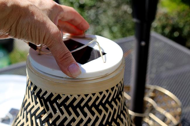 DIY Boho Inspired Bamboo Solar Light Step 5