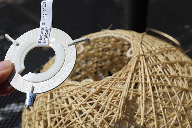 DIY Boho Inspired Bamboo Solar Lights Twine Ball Step 1