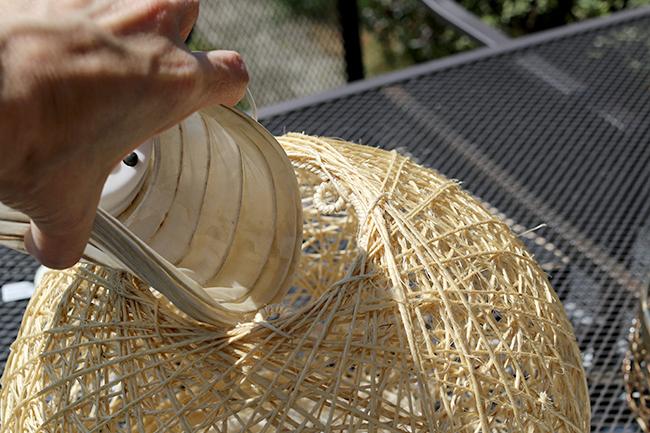 DIY Boho Inspired Bamboo Solar Lights Twine Ball Step 2