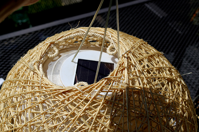 DIY Boho Inspired Bamboo Solar Lights Twine Ball Step 3