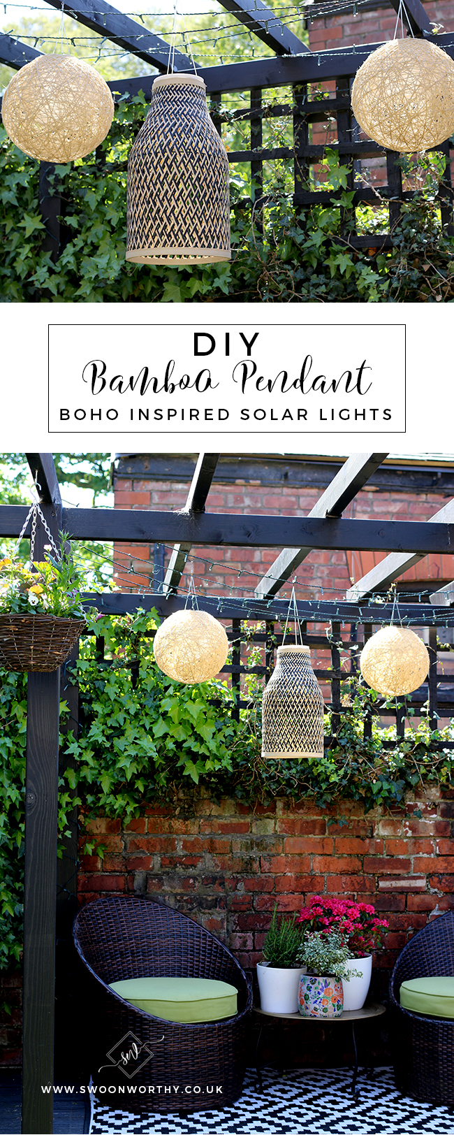 DIY Boho Inspired Bamboo Solar Lights