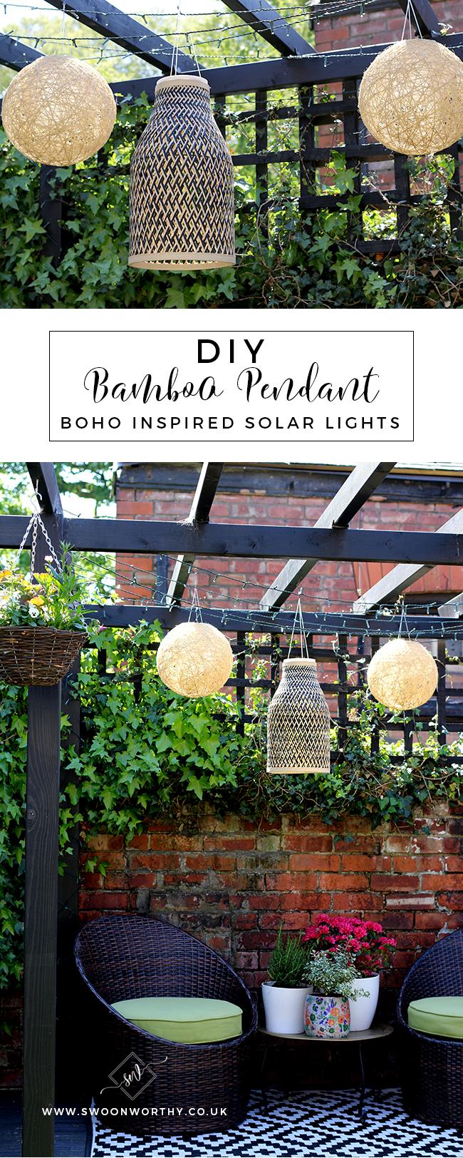 DIY Boho Inspired Bamboo Solar Lights