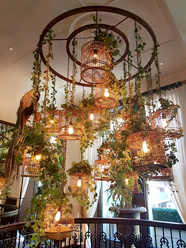 Grand Pacific Manchester Interior design birdcage light