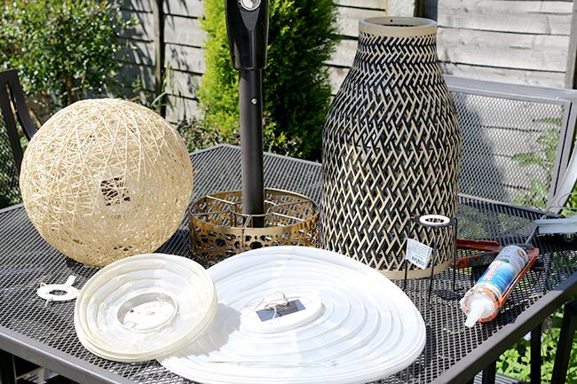 DIY Bamboo Solar Lights Materials