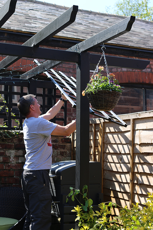 adding trellis to the pergola