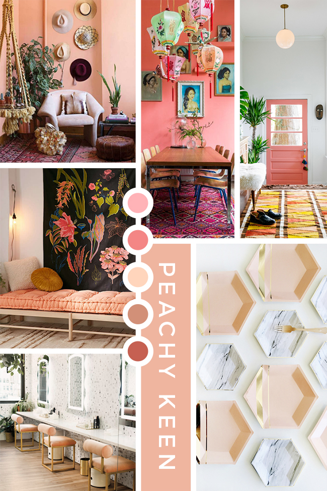 Peachy Keen Moodboard - see more on www.swoonworthy.co.uk