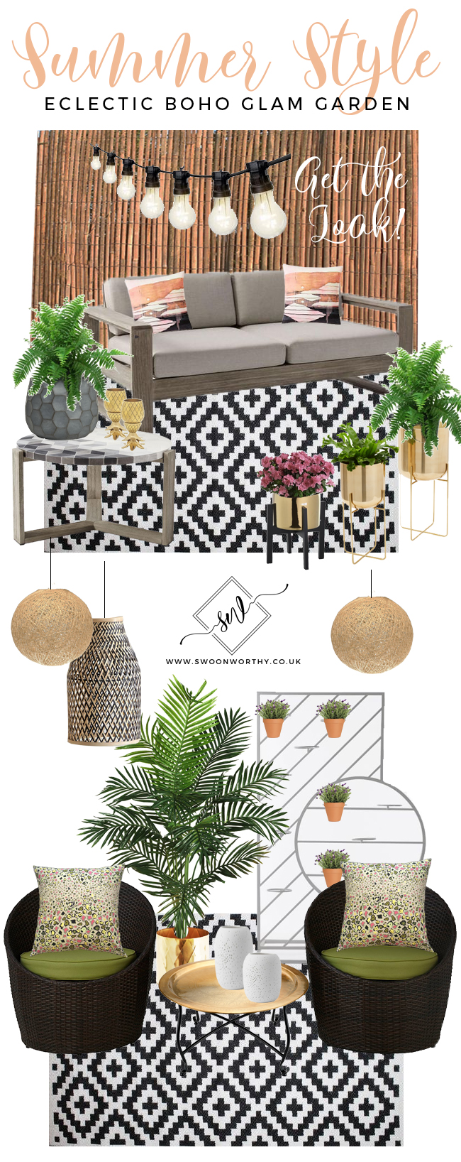 Swoon Worthy Garden Patio Get the Look - Eclectic Boho Glam