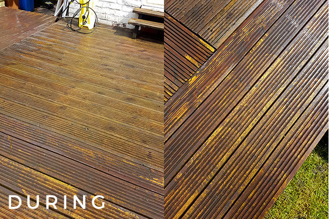decking after cleaning with power sprayer