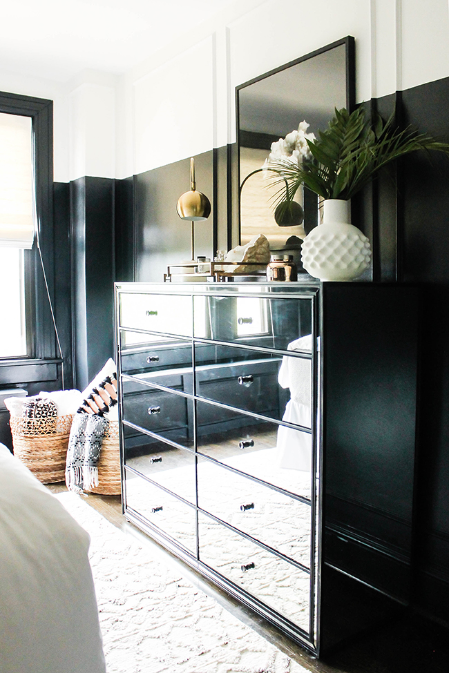shannon claire interiors black half painted wall