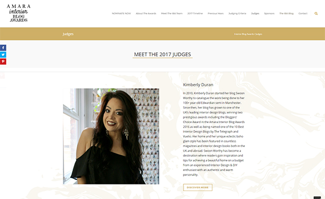 Amara Interior Blog Award Judges Kimberly Duran