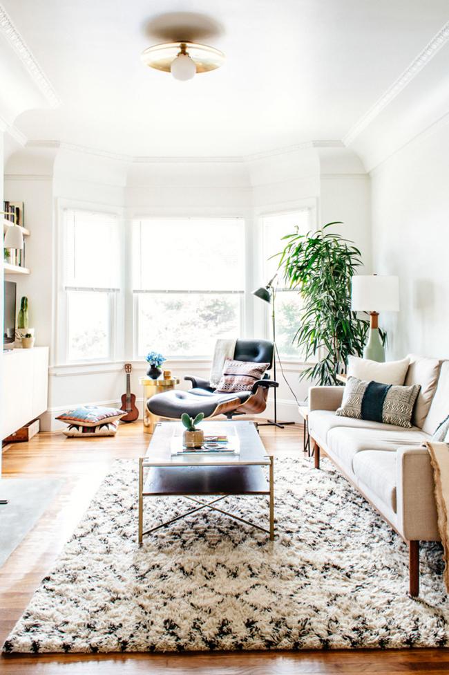 textural neutral living room