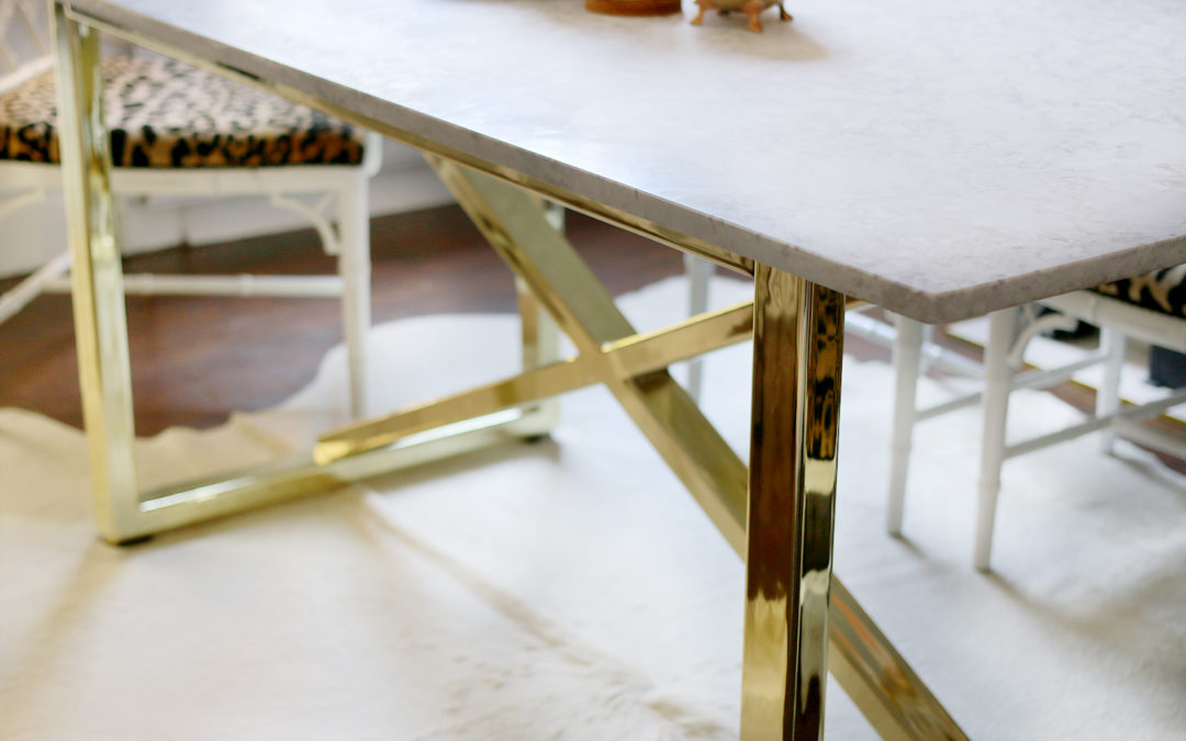 Going Bespoke: Marble & Brass Dining Room Table