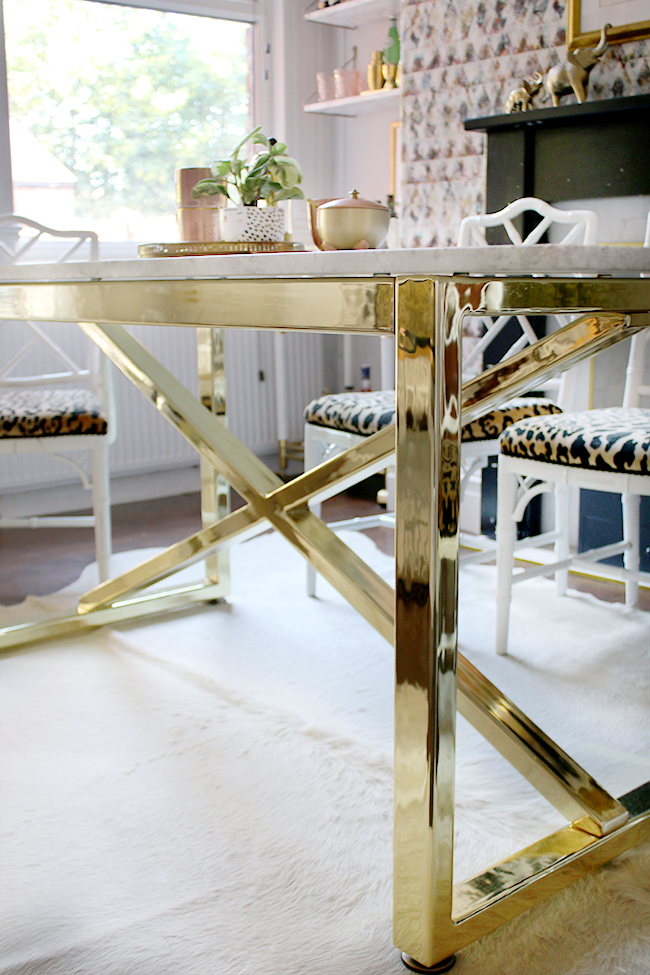 Going Bespoke Marble Brass Dining Room Table Swoon Worthy