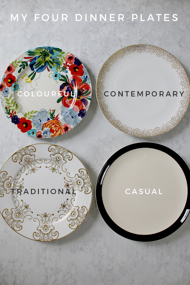 Mix and Match 4 Dinner Plates