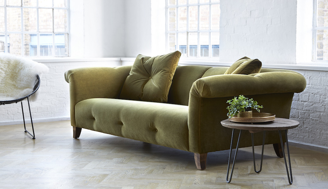 bedgbury_in_peridot_37_stain_resistant_velvet_2 darlings of chelsea velvet sofa in olive