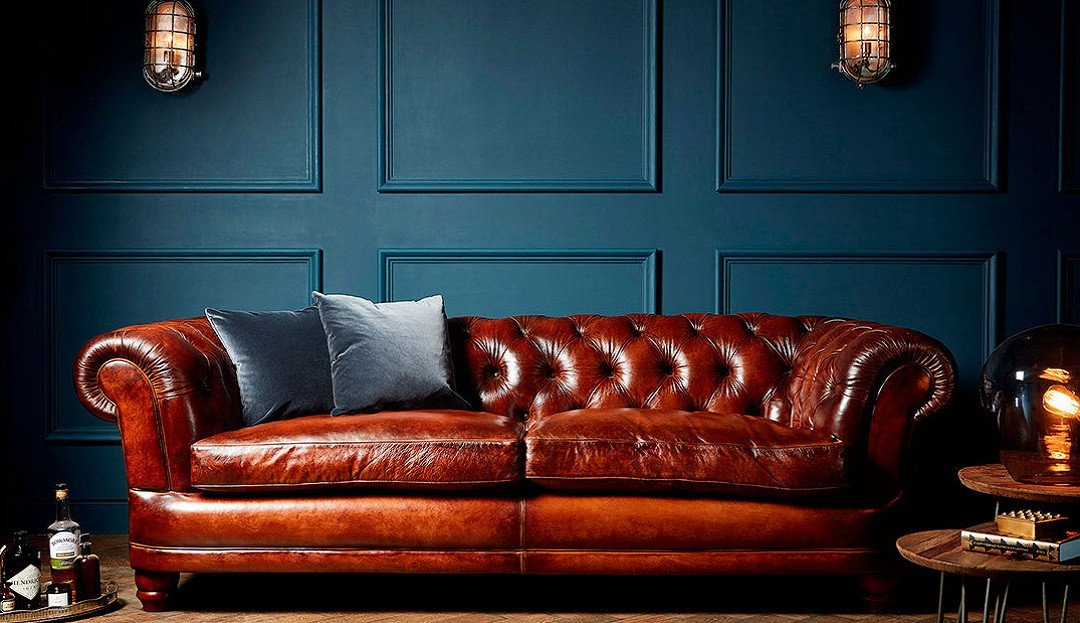 Cairness leather sofa by Darlings of Chelsea