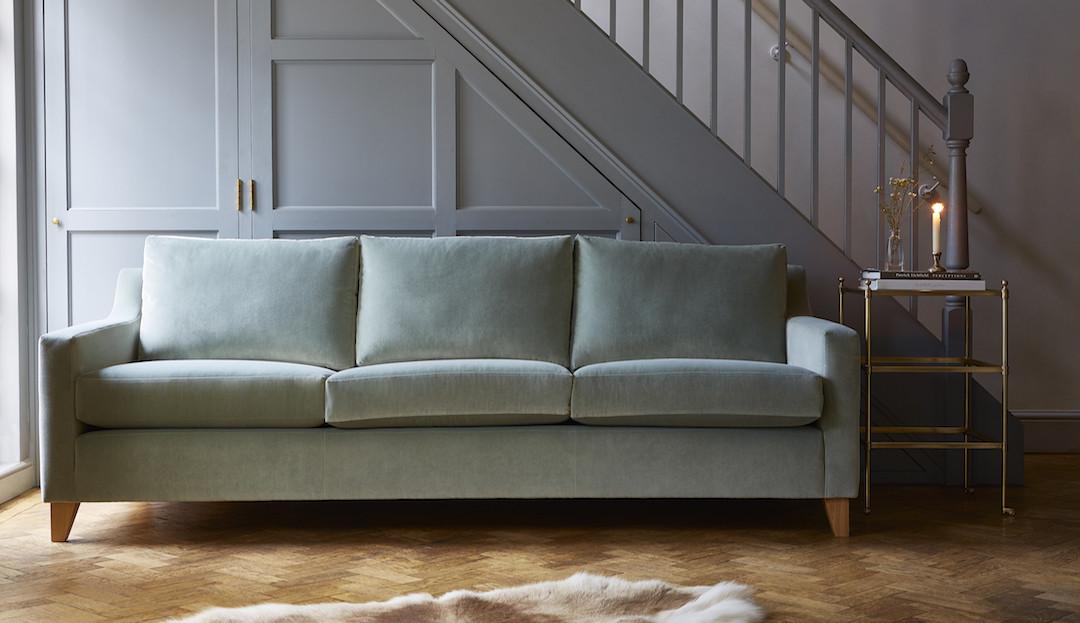 helena_in_stain_resistant_duck_egg_4 Darlings of Chelsea velvet sofa