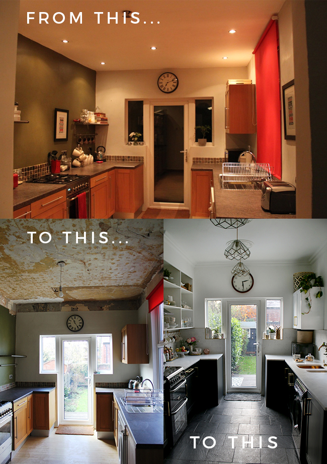 removing the false ceiling before and after