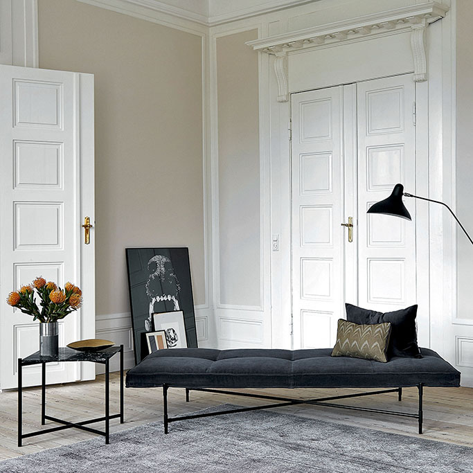 Urban Avenue Grey Velvet Daybed