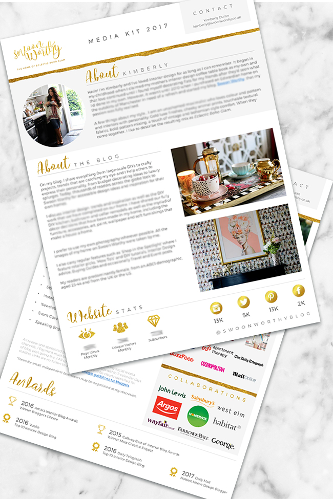 How to Create a Media Kit - Example