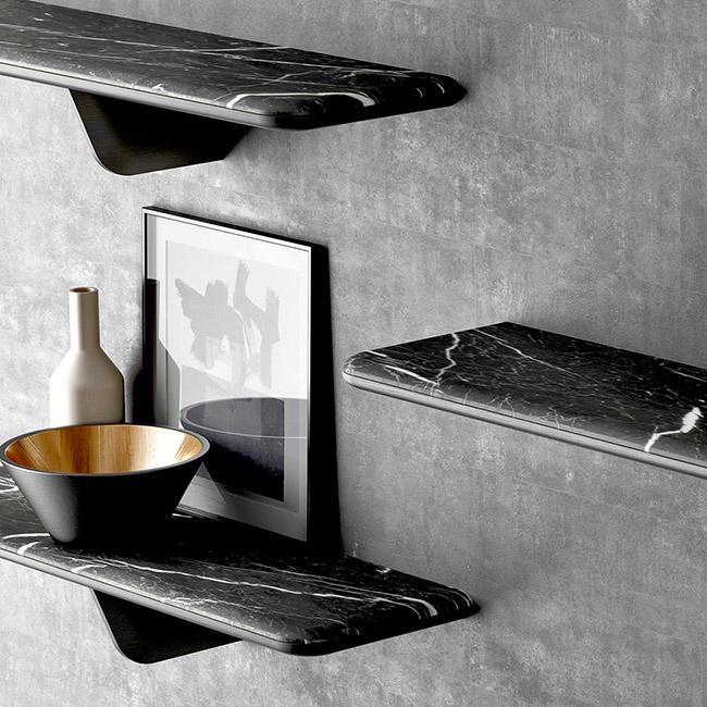 Urban Avenue marble shelves in black