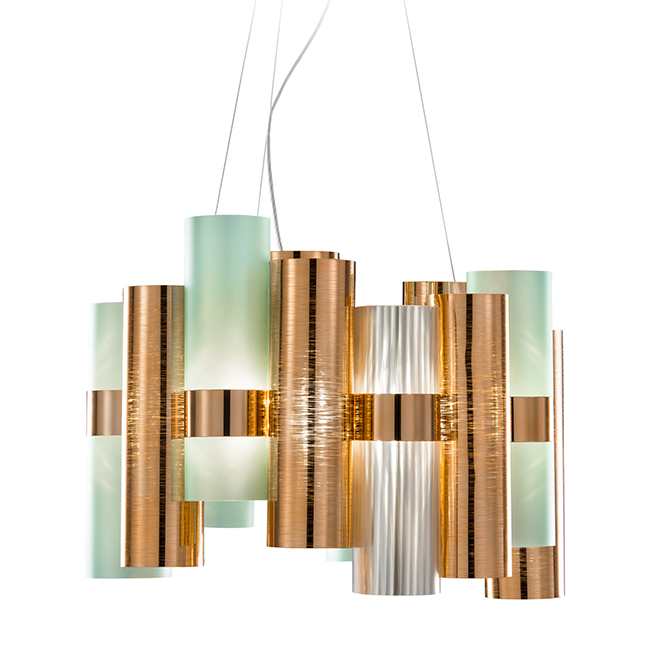 Urban Avenue green and copper light fixture