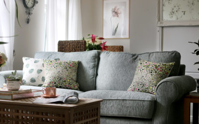 The REVEAL of Marjorie's Contemporary Romantic Living Room