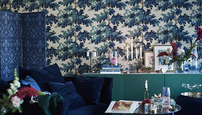Midnight Tropics IKEA Besta blue green front cabinet