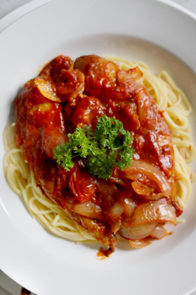 Smoked Mackerel and Chorizo Gluten Free Whole 30 Paleo Pasta Sauce Recipe 4