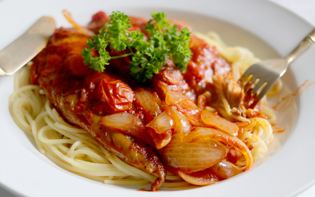 Recipe: Gluten-Free Smoked Mackerel and Chorizo Pasta
