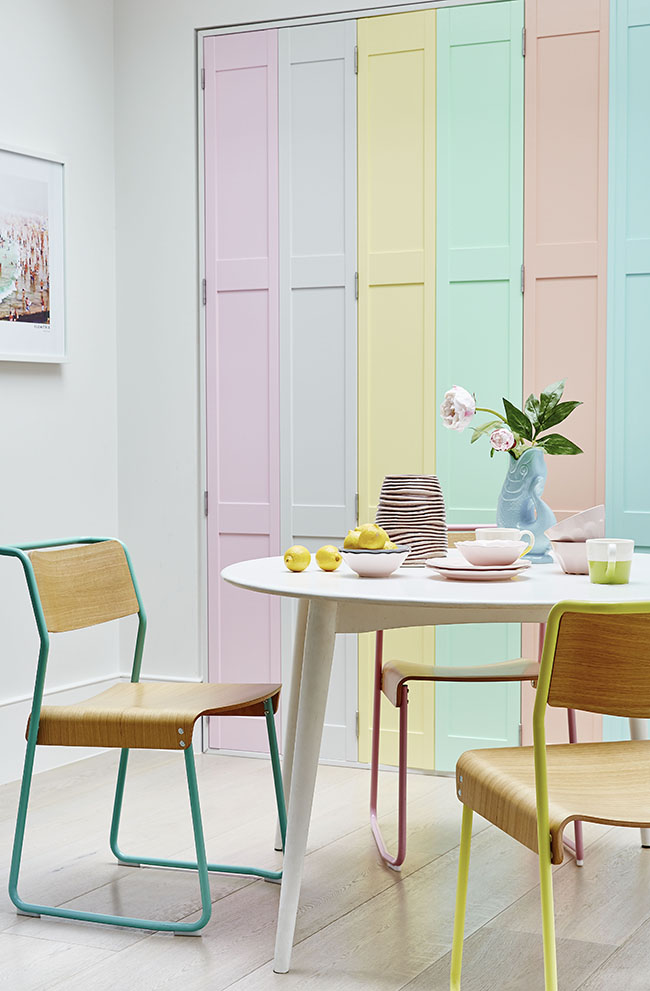 Shutterly Fabulous - Pastel Dining Room Shutters