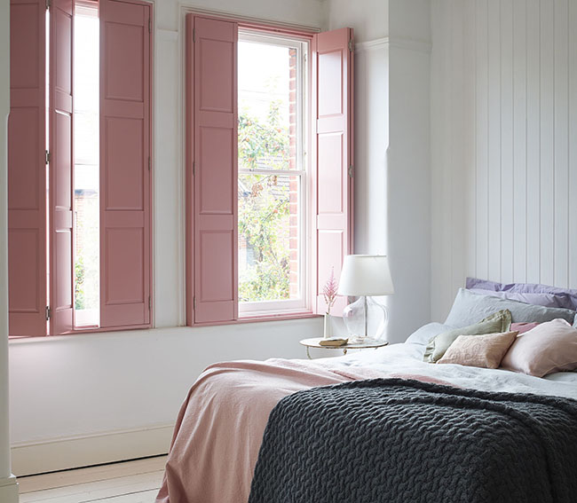 Shutterly Fabulous - Solid Shutter - Blush Pink Bedroom