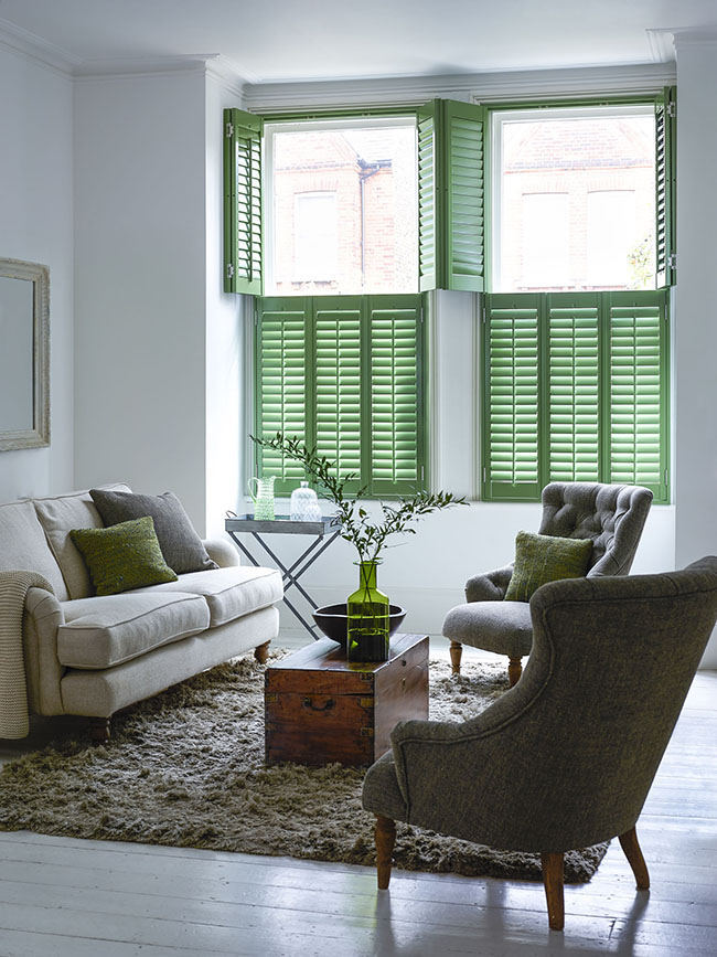 Shutterly Fabulous - Tier on Tier Shutter Green