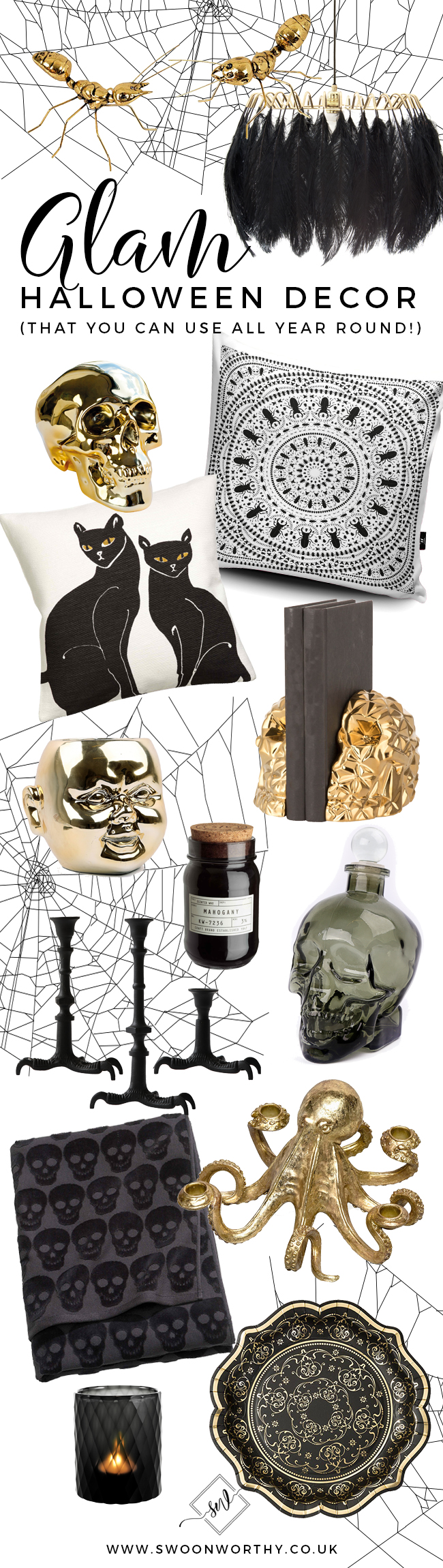 Glam Halloween Decor You Can Use All Year Round