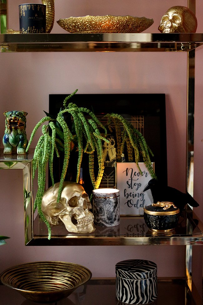 Glam Halloween Decor