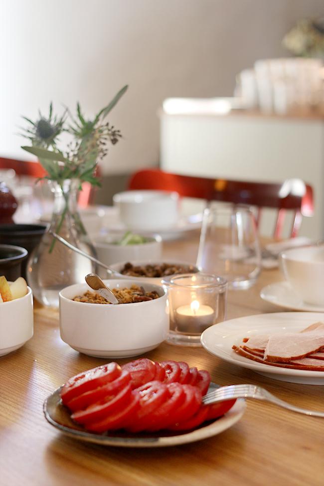 Breakfast at Wanäs Restaurant Sweden