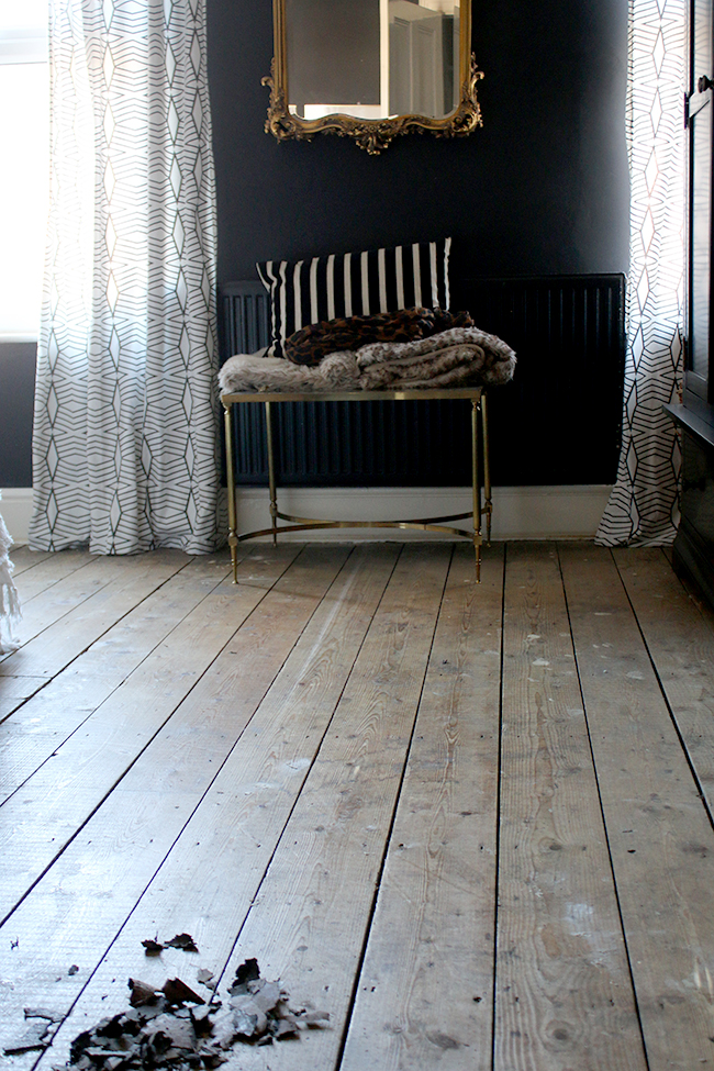 floorboards in Edwardian home