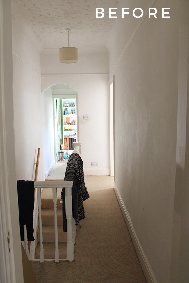 Before our Edwardian hallway makeover