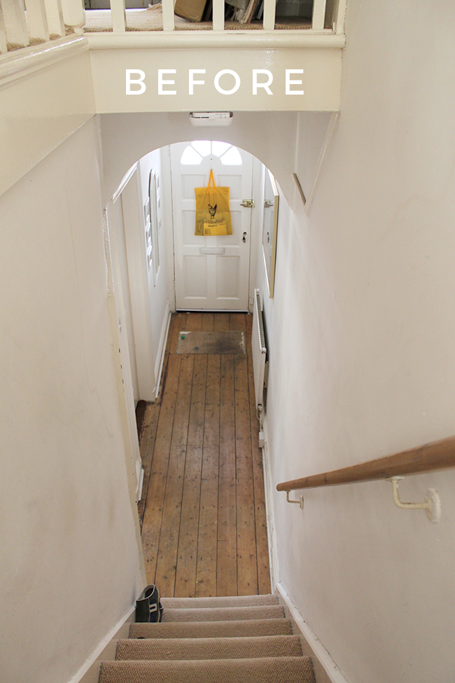 Take a look at the before of our Edwardian hallway