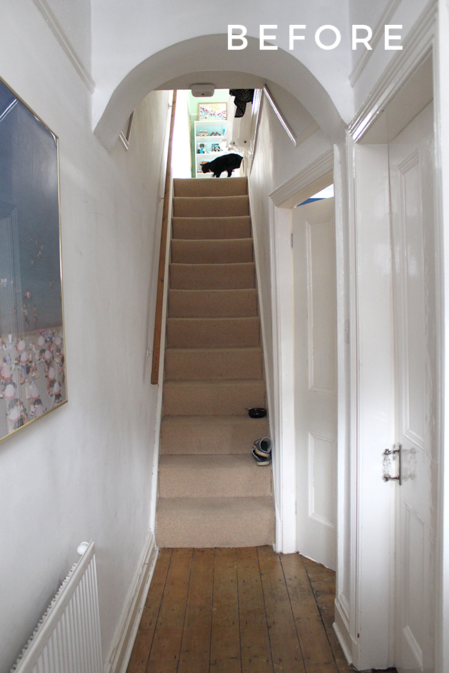 A before look at our Edwardian hallway