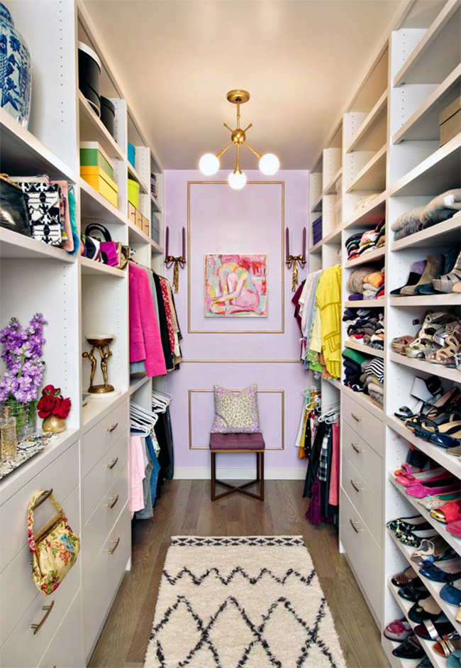 Mimosa Lane Walk In Closet in Lilac and Gold