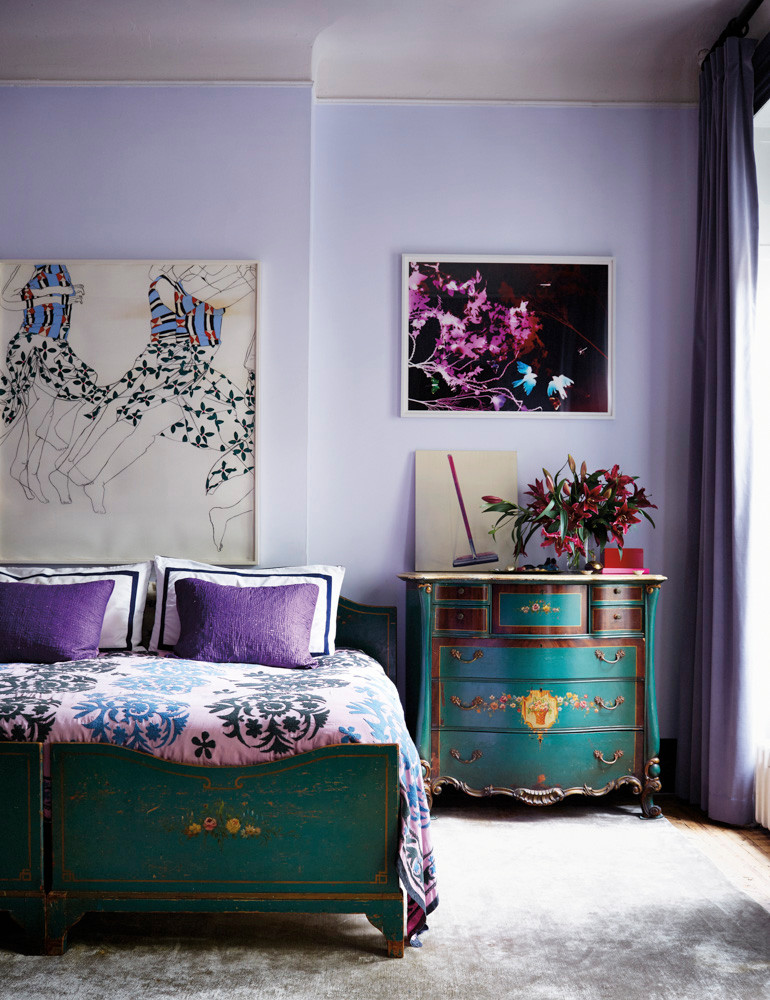 rebel-with-a-cause-at-home-with-pamela-bell-of-prinkshop-blue-and-purple-bedroom