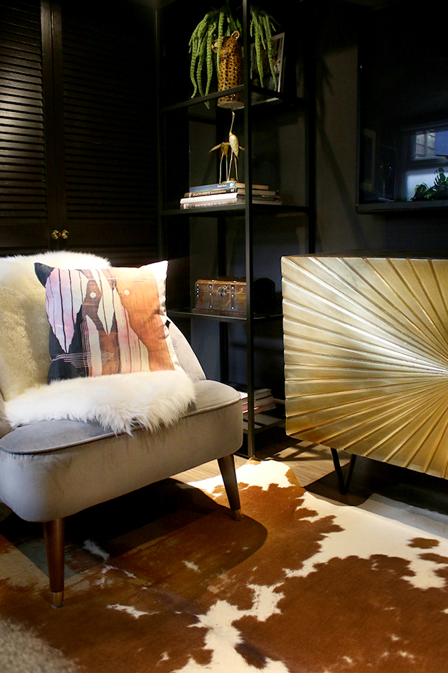 Gold Swoon Editions Ziggy Sideboard with Made chair