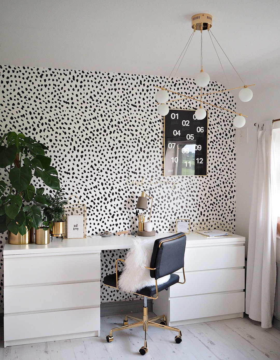 Olivia Lust Living Home Office Gold Black and White