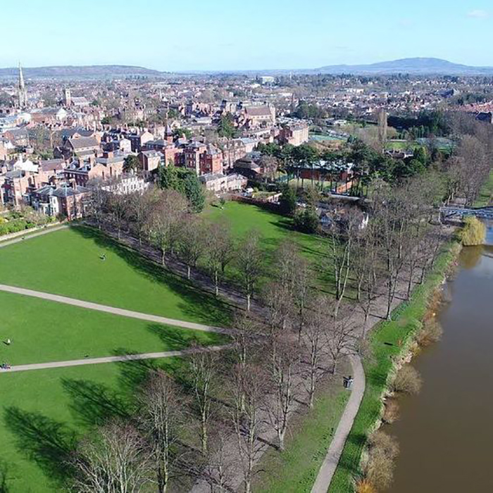Shrewsbury via drone
