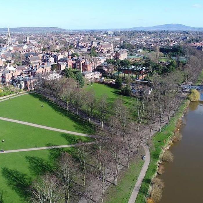 Shrewsbury via drone