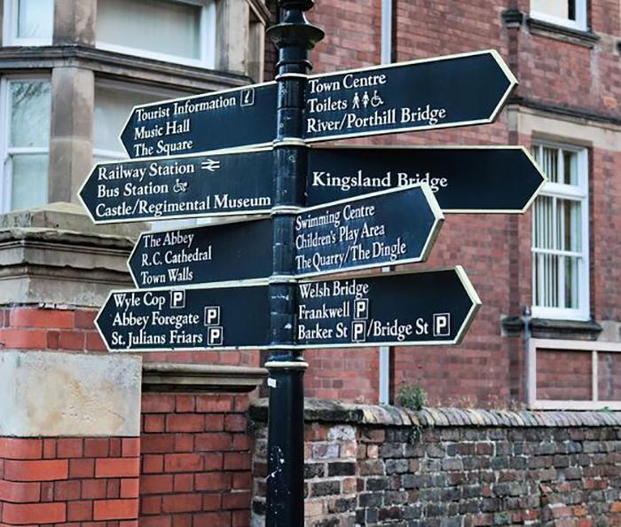Shrewsbury Signage