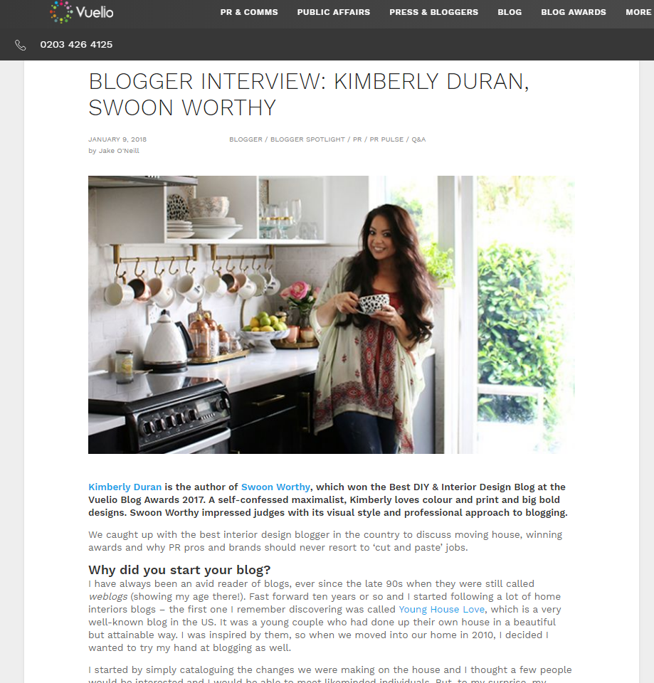 Blogger Interview Kimberly Duran Swoon Worthy Vuelio