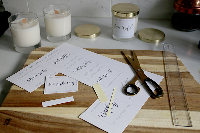 DIY Wood Wick Soy Wax Candles Step 10