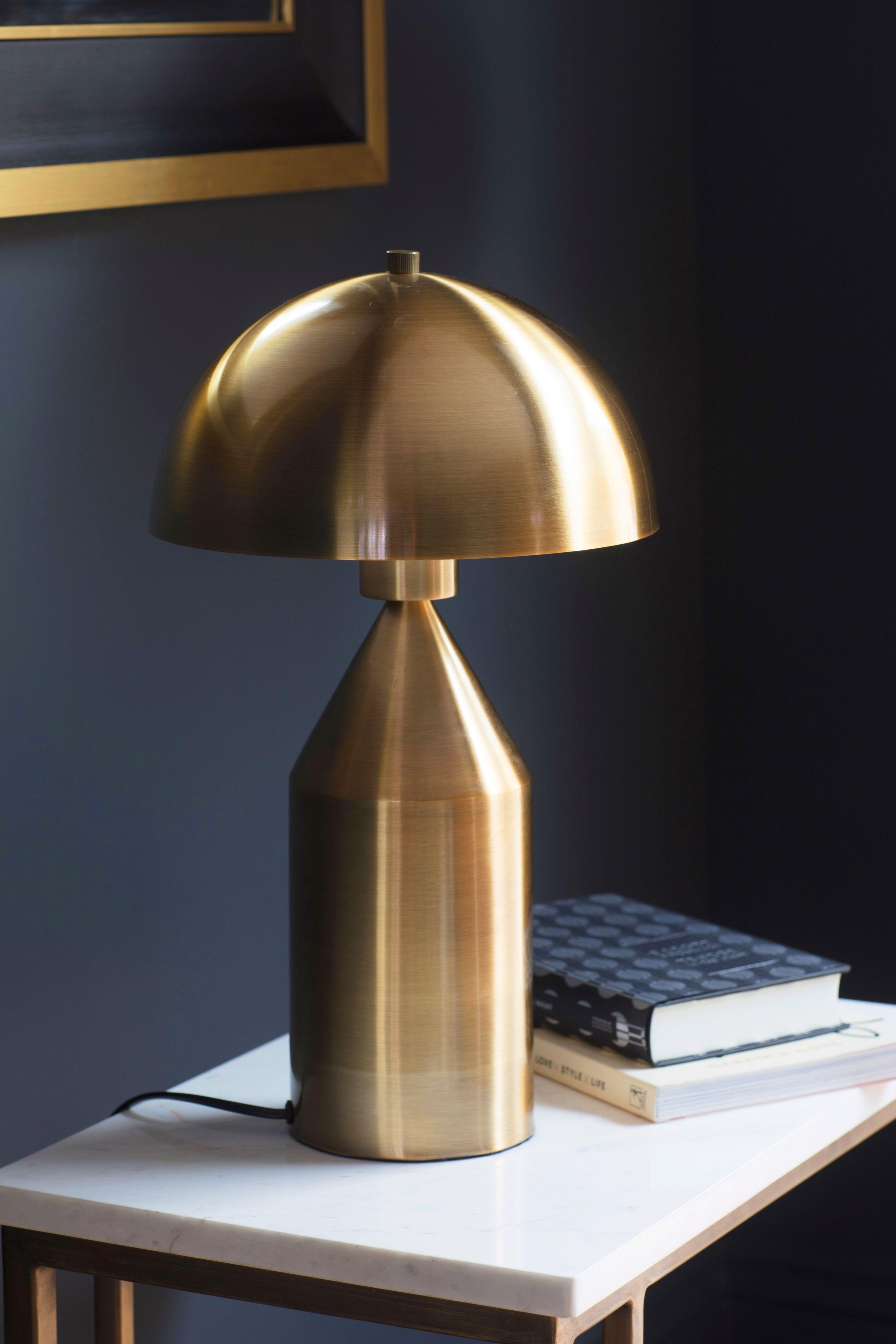 gold lamp from House of Frasier